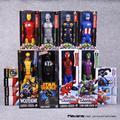 """Titan Série Herói Super-heróis Vingadores Ação PVC Figuras Brinquedos 12 """"30 cm Homem De Ferro Homem Aranha Capitão América Thor HRFG451"""