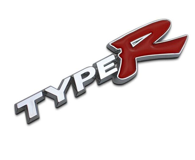 J35 free shipping 3d typer type r racing emblem badge logo decal sticker