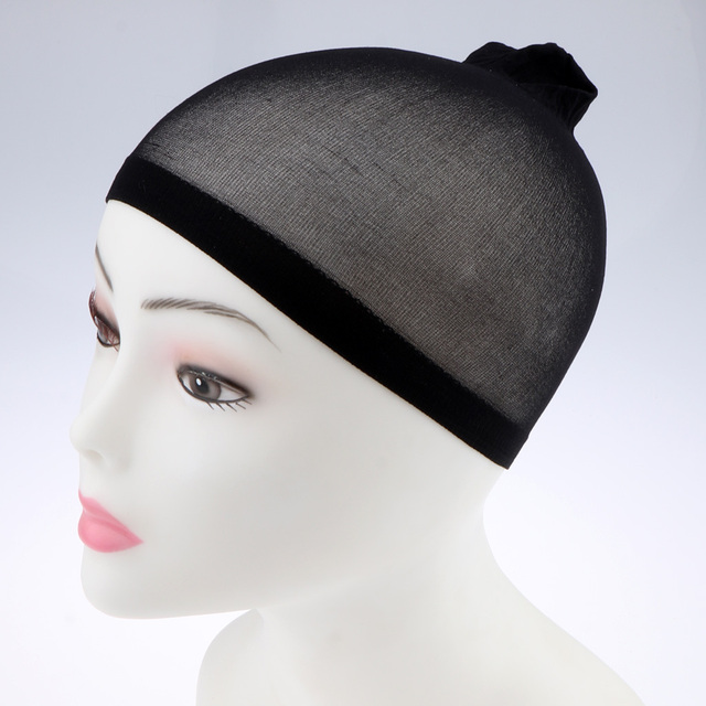 100Pcs Wholesale Breathable Black Spandex Dome Cap Mesh Hair Net for Making Wigs Snood Stretchy Wig Cap 1
