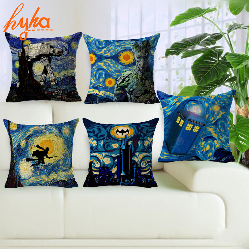 Hyha Halloween Style Cushion Cover Cotton Linen Void City Harry Potter Monster Home Deocrative Pillows Cover for Sofa Cojines