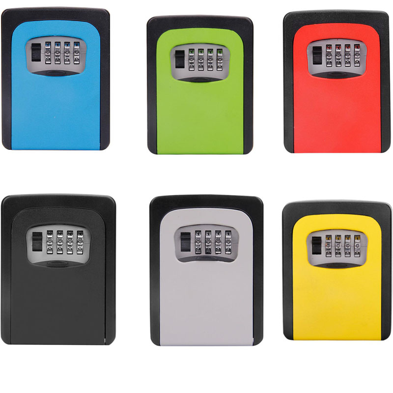 Multicolor Key Safe Storage Manager Box 4 Digits Safe Password Key Metal Secret Manager Box Home Office Key Hidden Safe DHZ013
