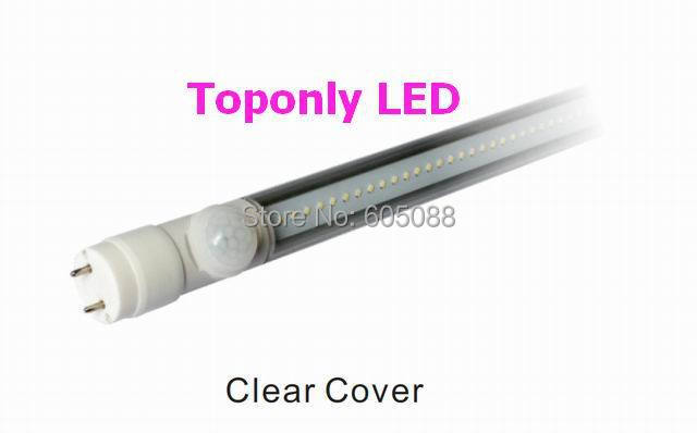 2017 High Quality 4ft 120cm T8 Led Sense Tube Light 18w Human PIR Sensor Lamp AC100 265v Clear/Frosted Cover 24pcs/lot Promotion|pir sensor lamp|tube light|sensor lamp - title=