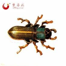 Mzc винтажные ювелирные изделия эмалевая эмальта жук насекомое
