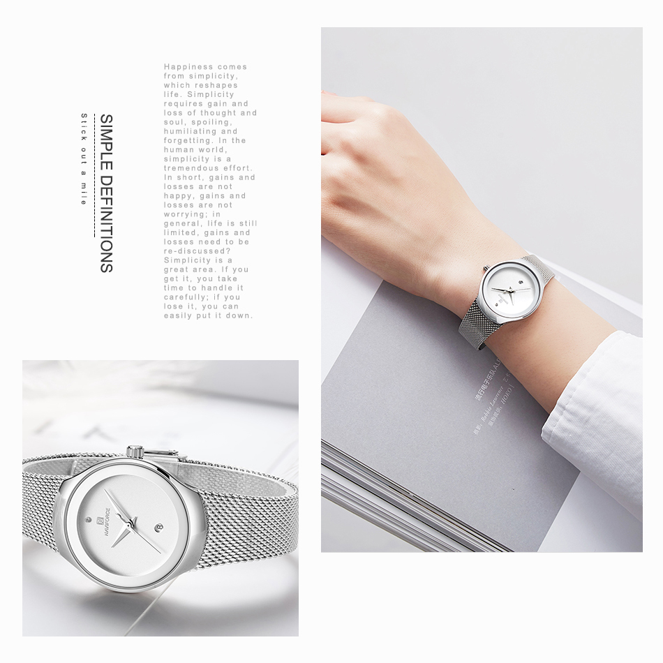 NAVIFORCE Women's Watches Fashion Girl Wristwatch Luxury Quartz Watch Women Stainless Steel Mesh Bracelet Clock Bayan Kol Saati (7)
