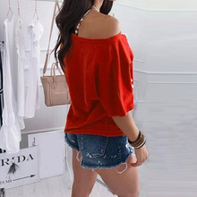 Sexy Off Shoulder Summer Blouses Batwing Sleeve