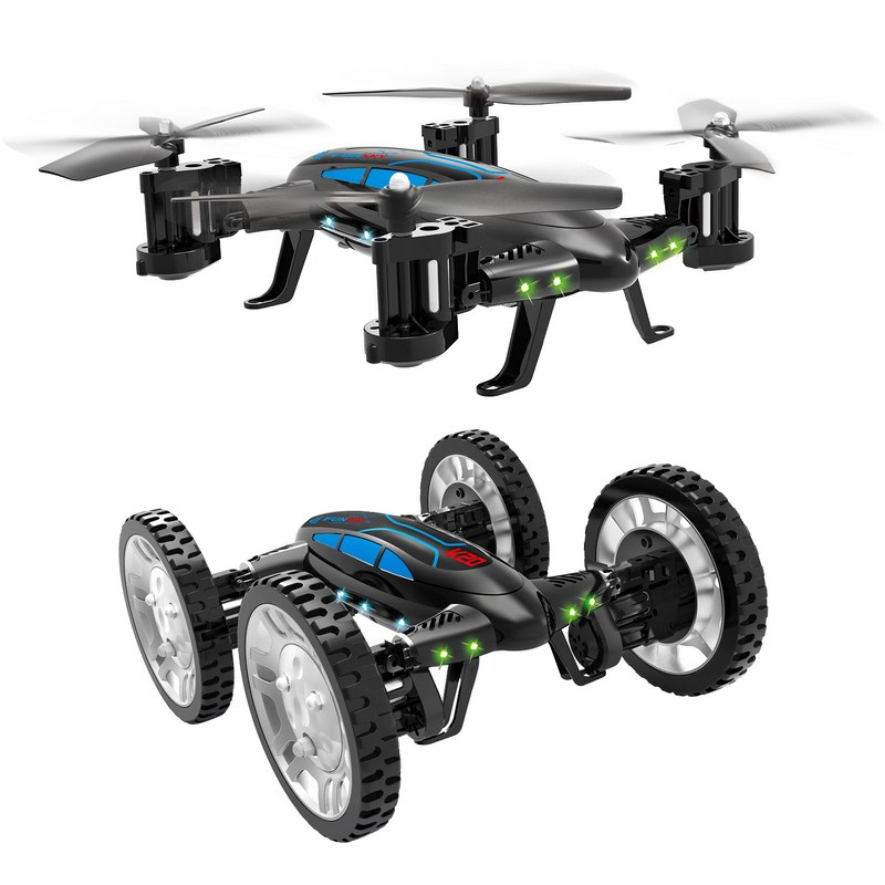 K20 RC Aircraft Quadcopter Drone Air Quadcopter Land Car Double Use System with 2.4G 4 Channel 6-Axis Gyro High-speed Flying Car syma x12 2 4ghz 4 channel 6 axis gyro mini r c quadcopter aircraft toy green page 9