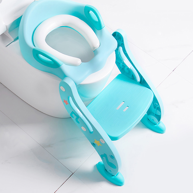 Children Toilet Ladder Can Be Folded Non-slip Baby Toilet Men And Women Urine Urinal Child Seat Cushion Baby Toilet Potty Toilet hot sale lovely baby children toilet baby drawer type bedpan children urinal potty training baby toilet soft stable stool seat