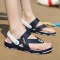 Venta caliente Baratos Hombres Chanclas Zapatillas de Moda de Verano Zapatos Casuales de Playa Sandalias Respirables Suaves Tamaño Grande Marrón Ligero