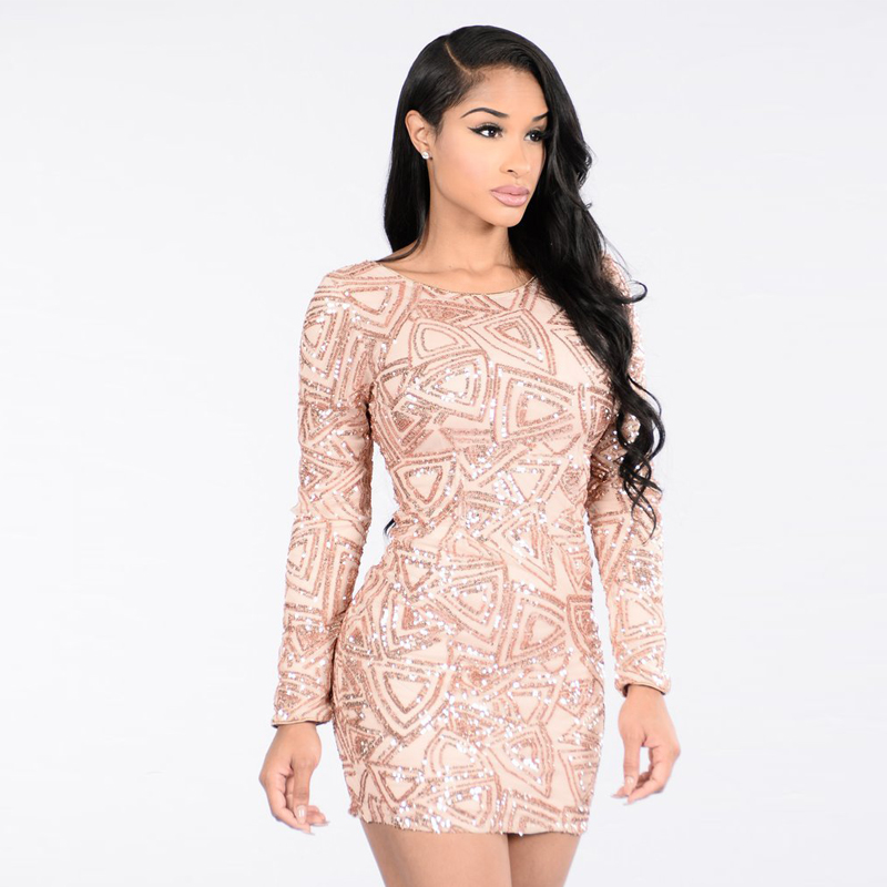 Online Get Cheap Long Sleeve Sparkly Dress -Aliexpress.com ...