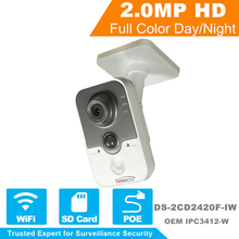 English Version  IP Camera WIFI V5.4.0 Support POE Network IP Camera WI-FI Wireless CCTV Camera Hik DS-2CD2420F-IW OEM IPC3412-W