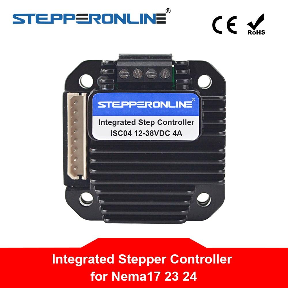 Integrated Stepper Motor Controller 1 5 4A 12 40VDC for NEMA 17 23 24 Stepper Motor