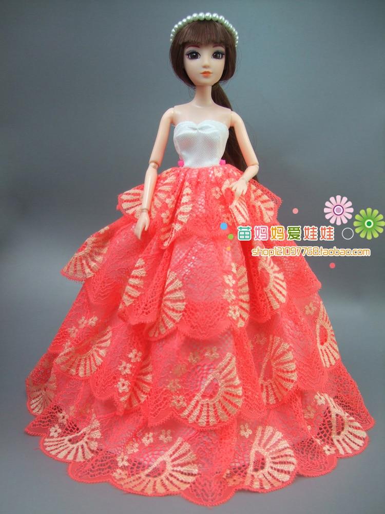 nouvelle collection arrvial Luxe 4 couches robe de mariée en - Poupées et accessoires - Photo 2