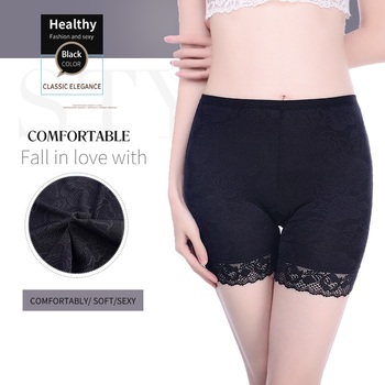 Innsly women's safety  shorts seamless lace mid-rise  women's safety shorts soft and comfortable large size  safety  underwear women's panties