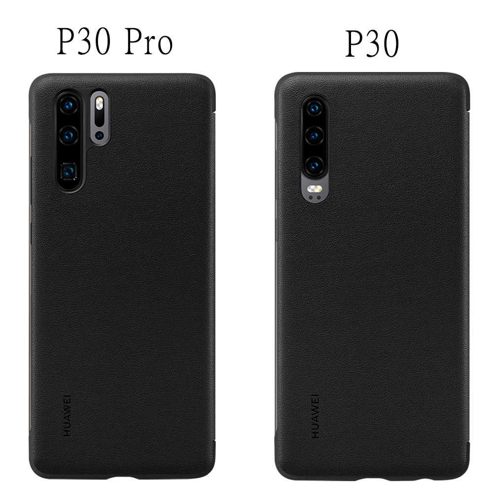 HUAWEI P30 Pro caso Original oficial inteligente ventana protección de cuero de caso, HUAWEI P30 Pro Huawei P30 caso Funda