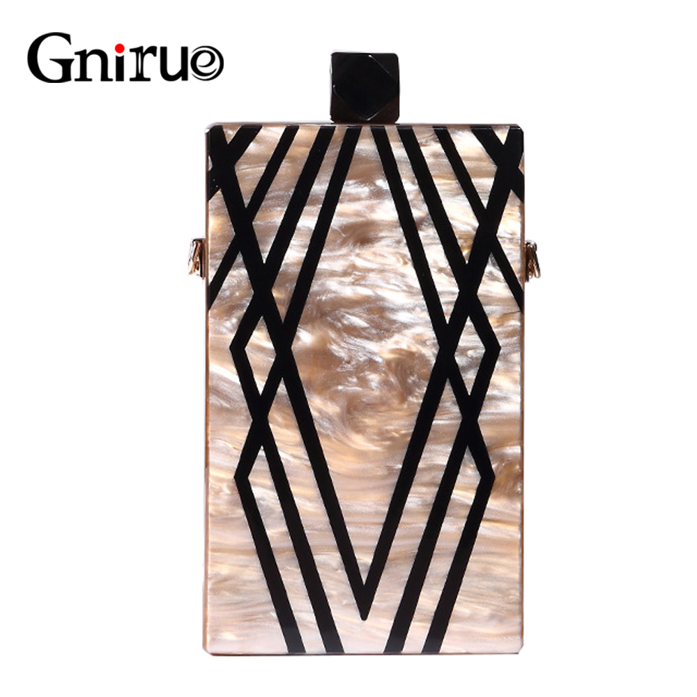 New Fashion Designer Geometry Splice Print Acrylic Evening Clutch Bags Unique Personality Women Shoulder Bag Handbags Wallet free shipping 2015 top gifts new bride rhinestone evening bags punk colored acrylic diamonds clutch bag shoulder handbags 0430