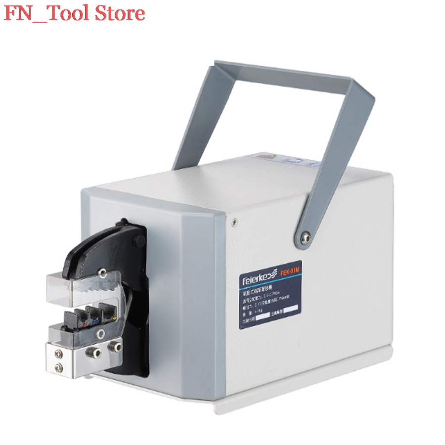 лучшая цена FASEN FEK-06M High Quality Pneumatic Type Crimping Machine Air Crimper for Different Terminals Cable tools Wire Crimp Tool