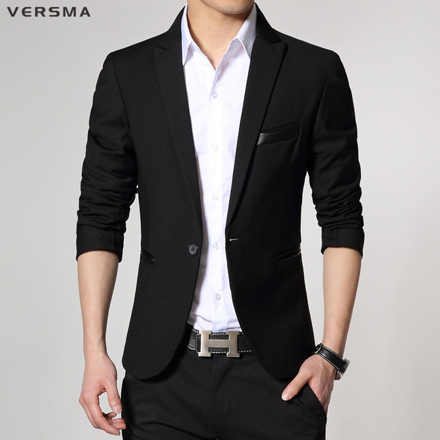 9b8e9dacea4 VERSMA 2017 Men Casual Suit Blazer Hombre Blue Men Blazer Designs Costume  Homme Stylish Mens Formal Suit Jacket Blazer Style Men