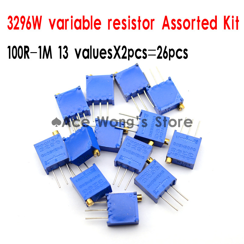 3296w Vr Variable Resistor 100r 1m13 Valuesx2pcs26pcselectronic