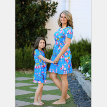 mother daughter matching clothes baby girl dress womens boutique clothing floral dresses new fashion family look print love