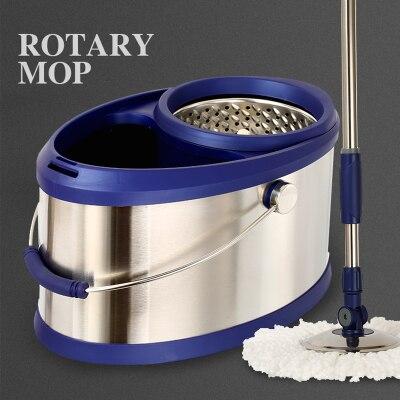 Hand-free mop podwójny napęd ze stali nierdzewnej obrotowy mop wiadro domu automatyczne mop wiadro