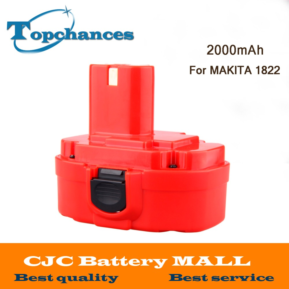 Newest 18V 2000mAh NI-CD Power Tool Battery for Makita 1822 1823 1834 1835 192827-3 192829-9 193159-1 193140-2 193102-0 192826-5