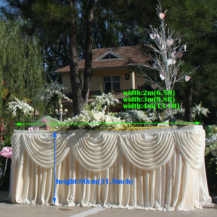 Wedding Supplies Ice Silk Table Cover Decorative Table Skirts Wholesales  Wedding Favors Wedding Tablecloth In Tablecloths From Home U0026 Garden On ...