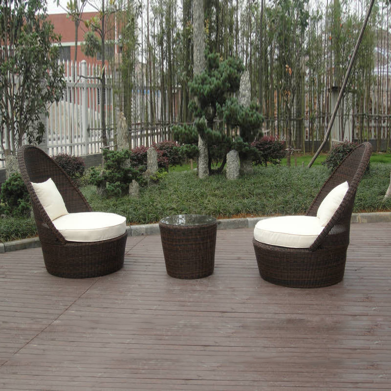 3 Pcs Hand-Woven Rattan Garden Leisure Dining Sets Patio For Home / Restaurant Transport By Sea
