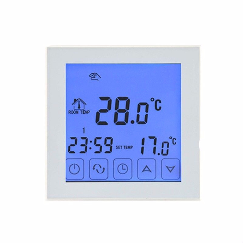 16A Touch Screen Home Heating Thermostat Infrared Heating Panels Temperature Controller White Color AU digital touch screen thermostat lcd programmable thermostat temperature controller switch room floor heating thermostat home use