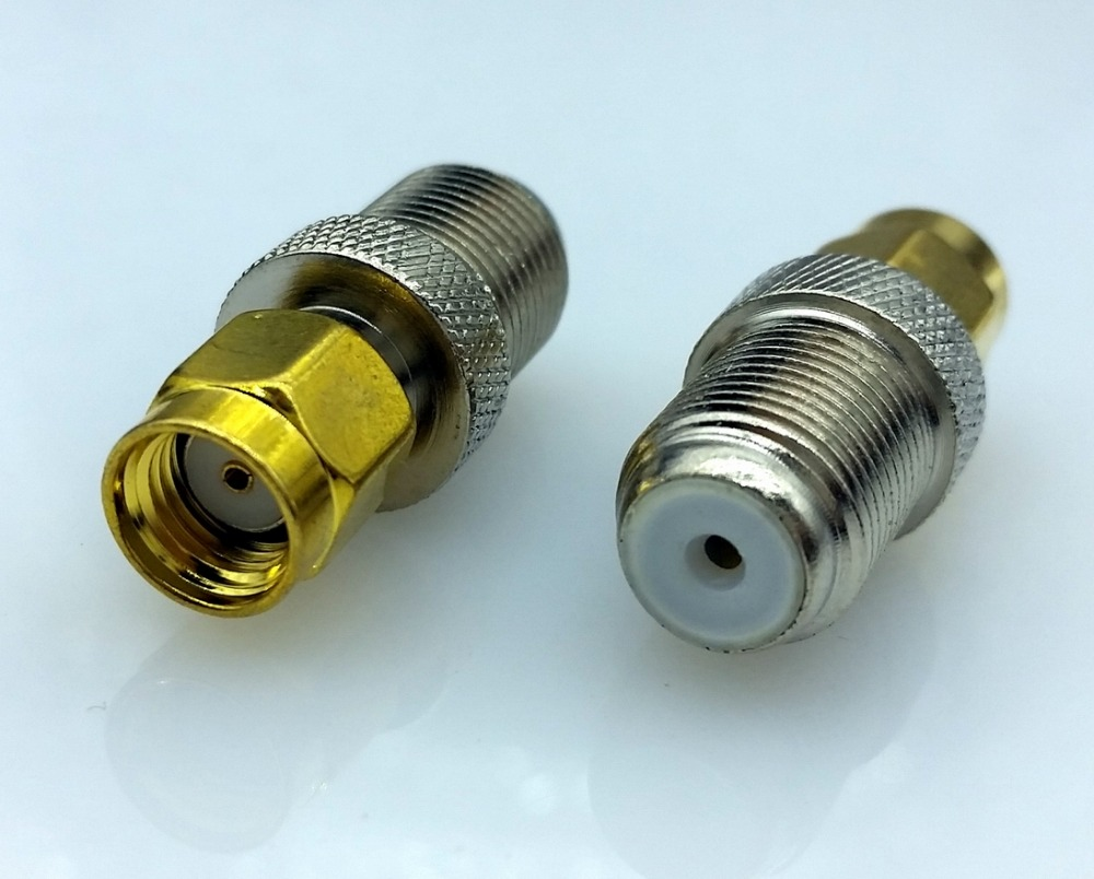 F Type Female Jack to SMA Female Plug Straight RF Coax Adapter F to sma Convertor 1pcs f type female jack to sma male plug straight rf coax adapter f connector to sma convertor