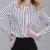 ElaCentelha Outono Mulheres Verão 2016 Encabeça Chiffon Blusa Camisas Das Mulheres Novas Listrado Plus Size Solto Elegante Escritório Ladies Blusas