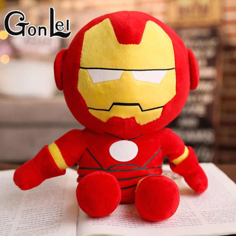 1 шт. 22-30 см мягкие плюшевые игрушки супергерой Капитан Америка Железный человек паук куклы из фильма мстители для детей подарок на день рождения