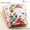 Luxury Designer Case For IPad Mini2 Mini3 Smart Stand Case 3D Embossing For IPad Mini 2