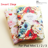 Luxury Designer Case For IPad Mini2 Mini3 Smart Stand Case 3D Embossing For IPad Mini 2