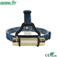 BORUiT портативный XPE светодиодный налобный светильник Вспышка 3 режима головной светильник s Водонепроницаемый Кемпинг Охота Рыбалка Головной фонарь светильник 18650