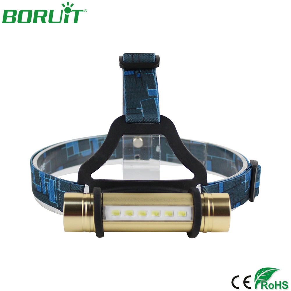 BORUiT Portable XPE LED Headlamp Flashlight 3 Modes Headlights Waterproof Camping Hunting Fishing Head Torch Light 18650