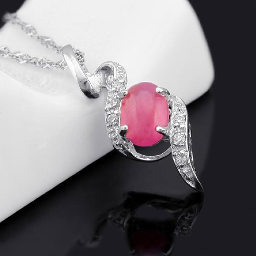 Настоящее ожерелье Qi Xuan_Red Stone цветок кулон ожерелье_ настоящий красный ожерелье_ качество Directly ed_производитель напрямую