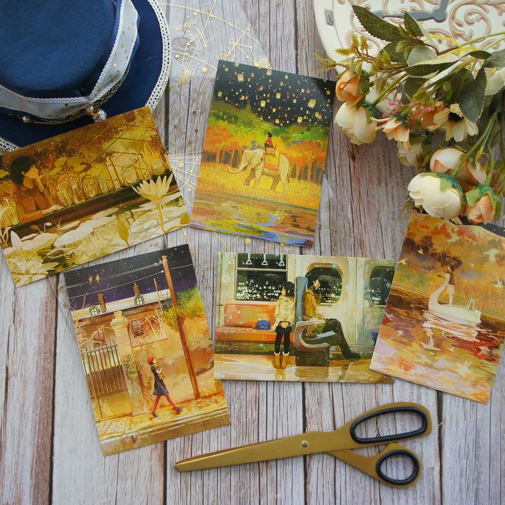 5pcs Travel So Many Place To Find You Style Card as Scrapbooking Party Invitation DIY Decoration Gift Card Message Card Postcard image