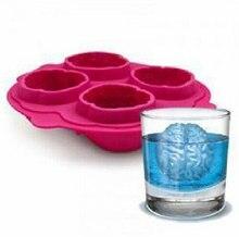 Cubito de Hielo Freeze Fabricante Del Molde Del Molde de silicona Forma Del Cerebro Party Bar Drink SQ1015