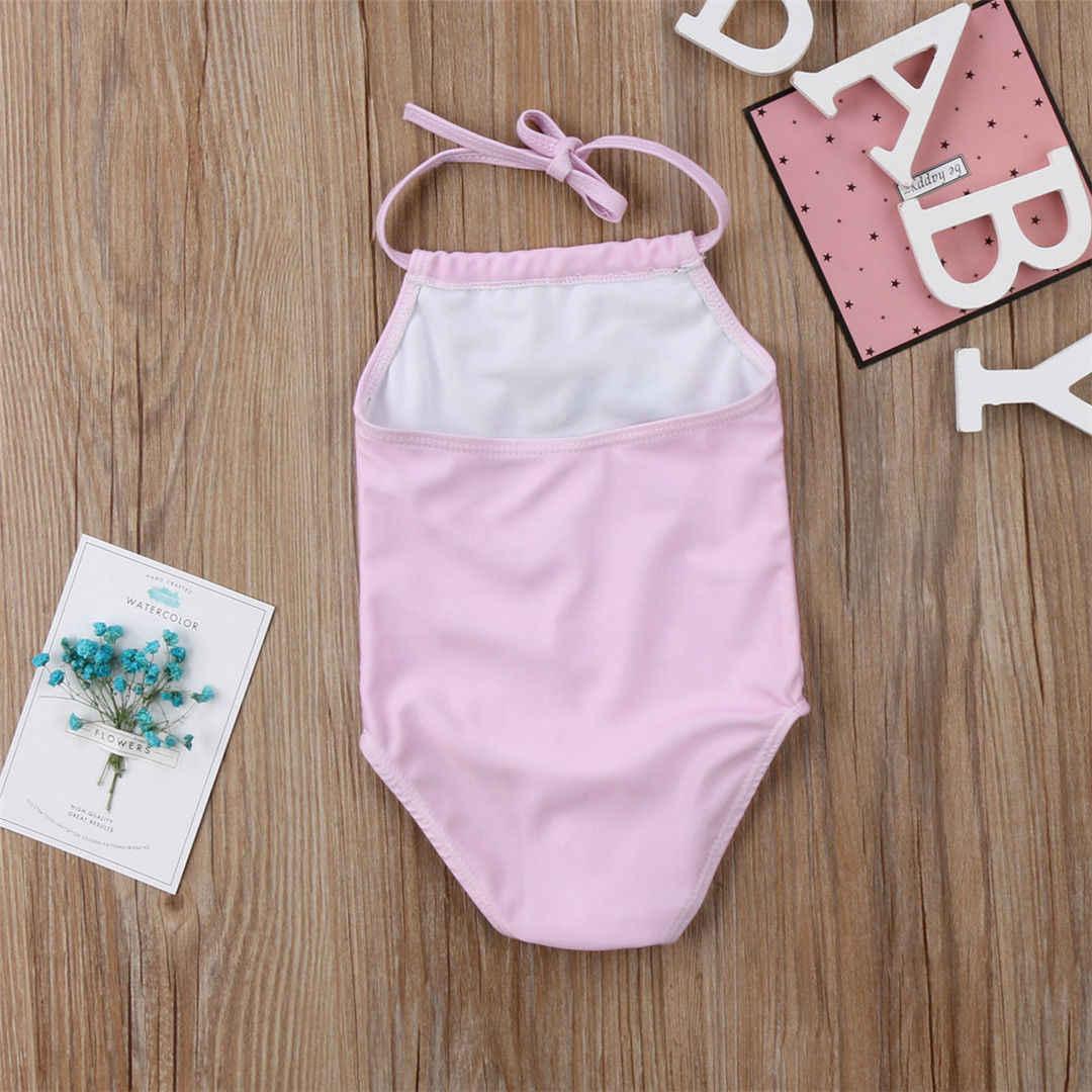ef4654ab335a8 ... Kid Baby Girls Unicorn Bikini Swimwear One Piece Swimsuit Bathing Suit  Beachwear