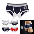 Letter Printed cotton men's boxer sexy cuecas cool boys underwears pants underpants