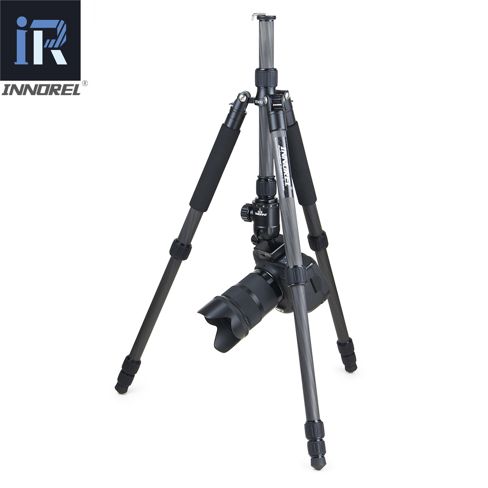 Image 5 - RT40C Professional Carbon Fiber tripod for digital dslr camera lightweight stand high quality tripe for Gopro tripode 164cm max-in Tripods from Consumer Electronics