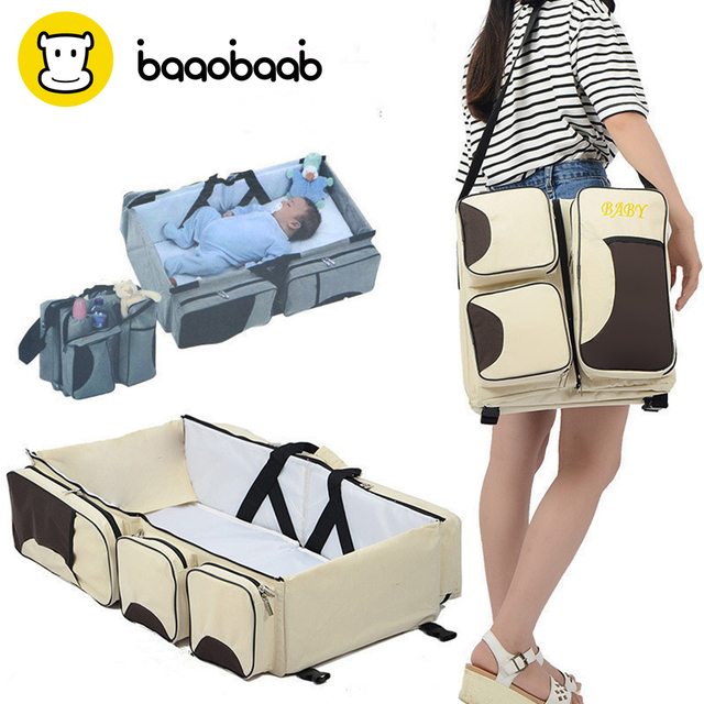 BAAOBAAB LXC07 fold n go portable multifunction travel bassinet baby bed