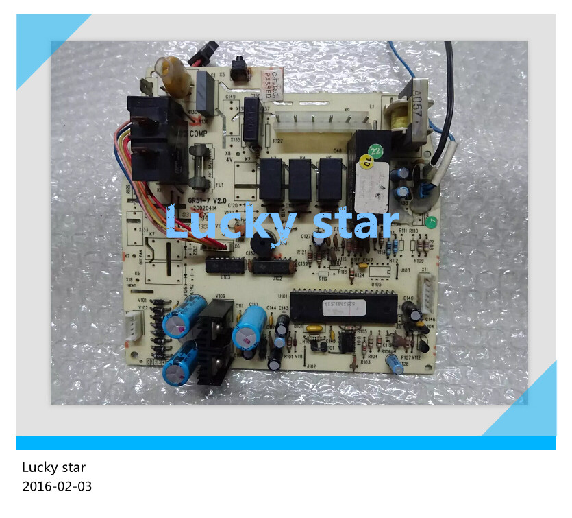 98% new for Gree Air conditioning computer board circuit board GR51-7 V2.0 30035376 5251 good working цена