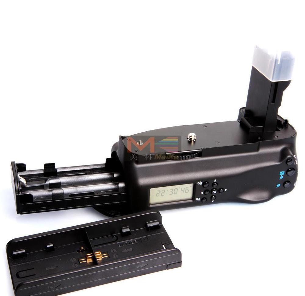 MeiKe MK-7DL poignée de batterie LCD pour Canon 7D
