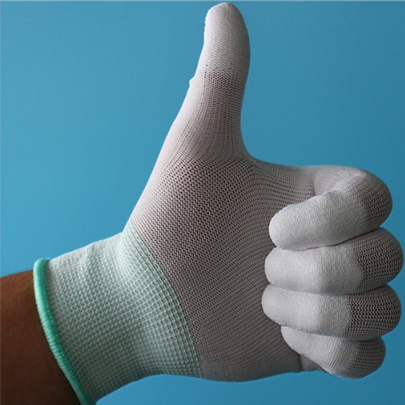Antistatic Gloves Anti Static ESD Electronic Non-slip Working Safety Gloves PU coated Palm PC Antiskid for Finger Top Protection 06