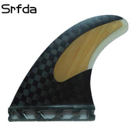srfda Hot sell surfboard fins for future box with fiberglass 12K carbon material surfing fins SIZE M Free shipping