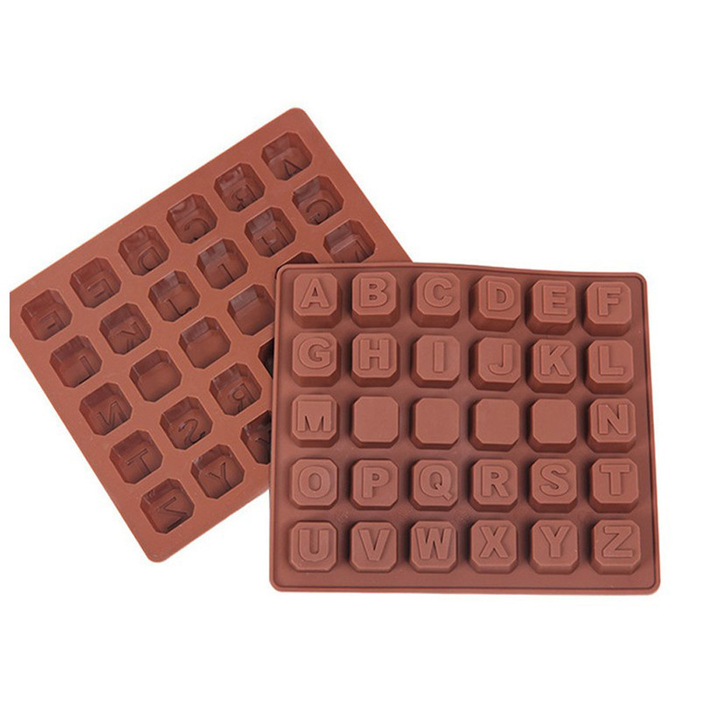 silicone mold of 26 letters + 4 spaces chocolate mold ice cube mold cake baking mould 2017 Hot Sale
