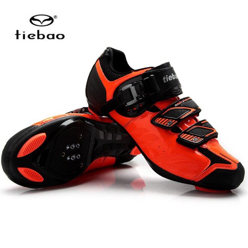 Цена за Tiebao Новое Поступление Дорожные Велосипеды Auto lock Обувь Дышащая мужская Велосипедов Спорт На Открытом Воздухе Велоспорту на шоссе Обувь