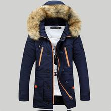 Brand New Winter Men Thickening Casual Warm Fur Hooded Collar Jacket Down Coat Parkas Baseball Design outdoors Veste Homme