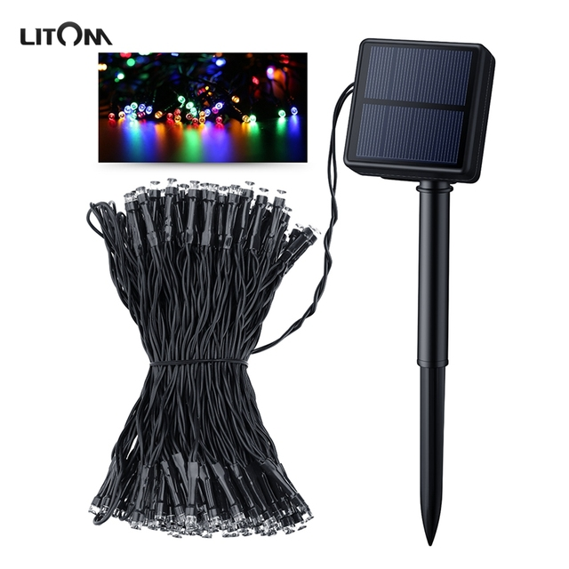 Litom Solar 200 LED String Light 72.18 Feet Waterproof Multi-Color Decorative Light With 8 Working Modes for Party Decoration